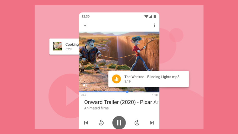 The integrated media player in Opera for Android 61