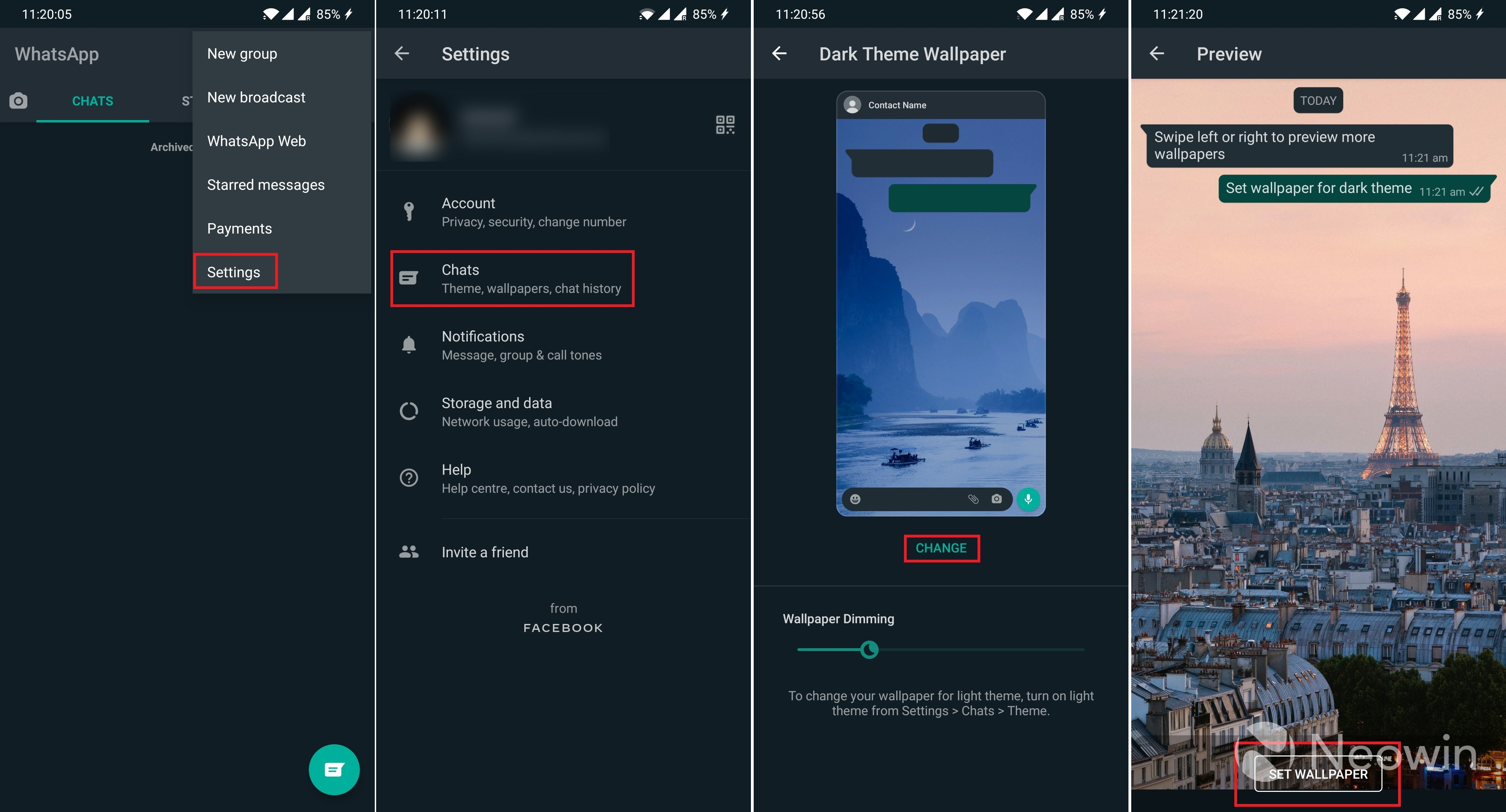 WhatsApp users can now set different wallpapers for ...