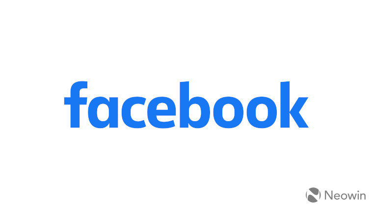The Facebook logo on a white background