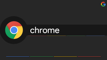 Chrome logo on a dark background