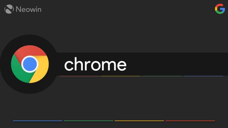 Chrome logo on a dark background