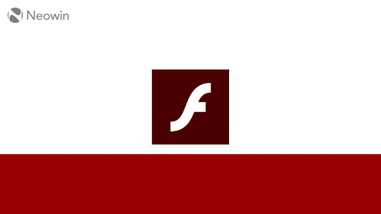 The Adobe Flash logo on a white and red background