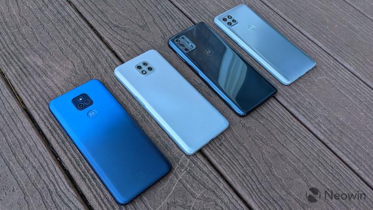 Moto G Play, Moto G Power, Moto G Stylus, and Motorola One 5G Ace