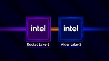 Intel Rocker Lake-S and Alder Lake-S desktop platforms written on black background