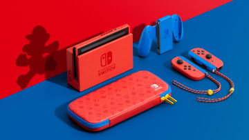 Nintendo Switch Mario Red and Blue Edition graphic