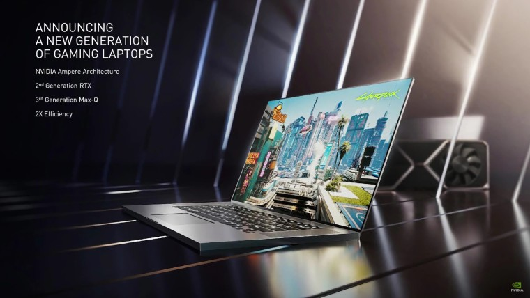 Announcement of laptops with GeForce RTX 30 series GPUs
