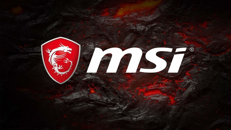 MSI logo laid on top of solidifying lava