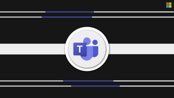 Microsoft Teams logo on a black background