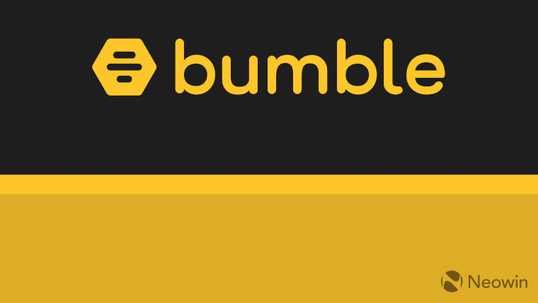 The Bumble logo on a black and yellow background