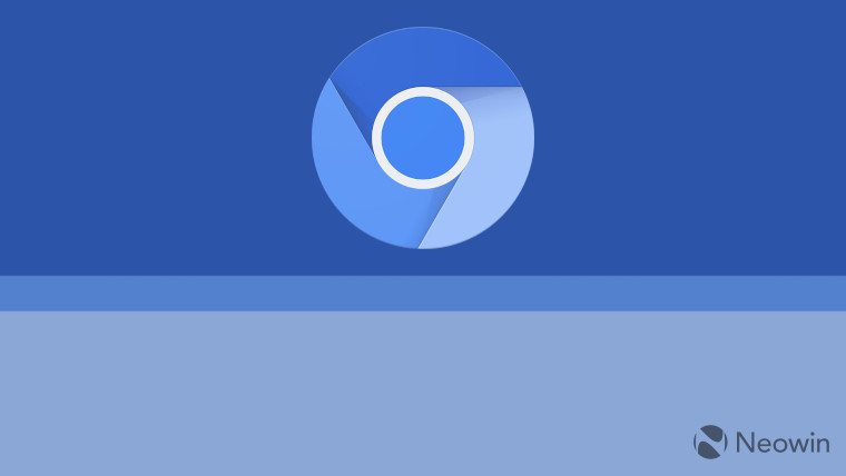 The Chromium logo on a blue background