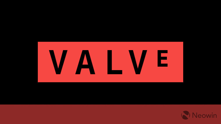 The Valve logo on a black and red background