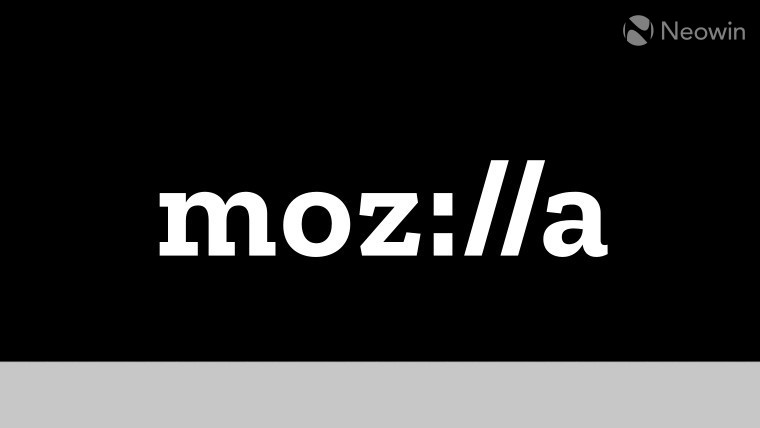 The Mozilla logo on a black and grey background