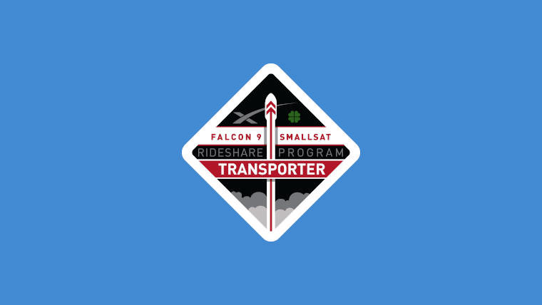 The Transporter-1 SpaceX badge