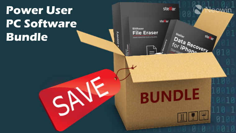 box of software with a save tag