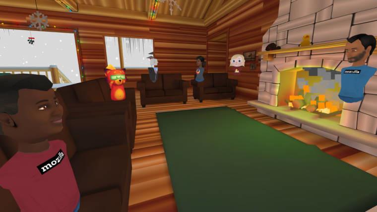 Avatars in a room on Mozilla Hubs