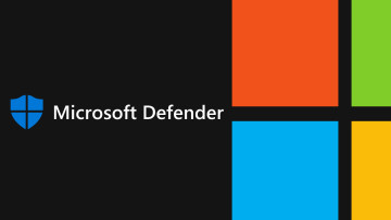 The Microsoft and Microsoft Defender logos over a black background