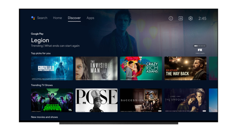 New Android TV UI based on Google TV UI