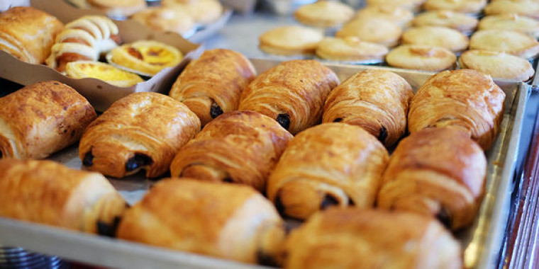 pastries on a baking tray