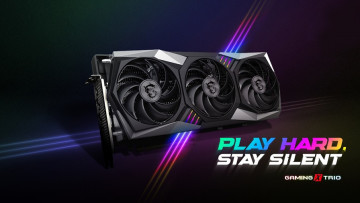 An MSI Gaming X Trio GPU with airflow indicated in RGB colors