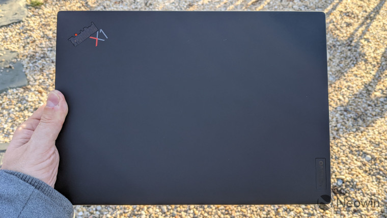 Lenovo ThinkPad X1 Nano viewed from the top, lid closed