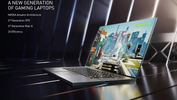 Announcement of laptops with GeForce RTX 30 series GPUs at CES 2021