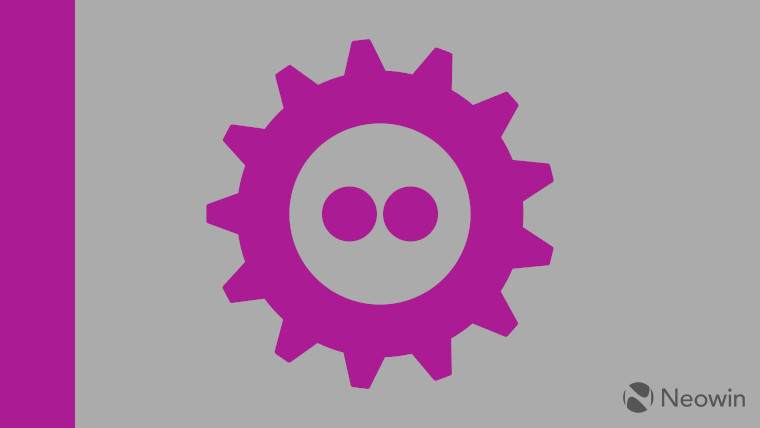 The FOSDEM logo on a grey and purple background