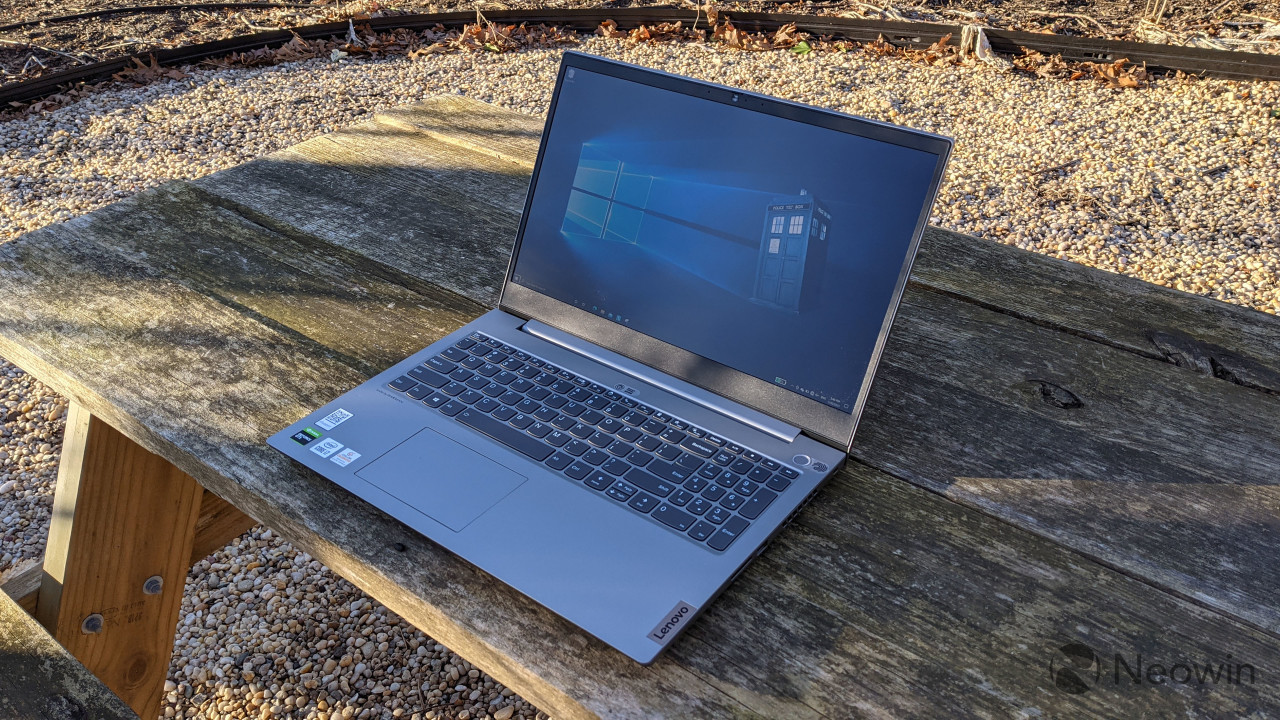 Lenovo ThinkBook 15p on wooden table