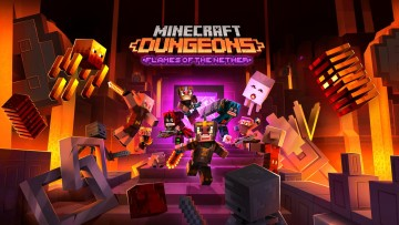 Minecraft Dungeons Flames of the Nether DLC promo