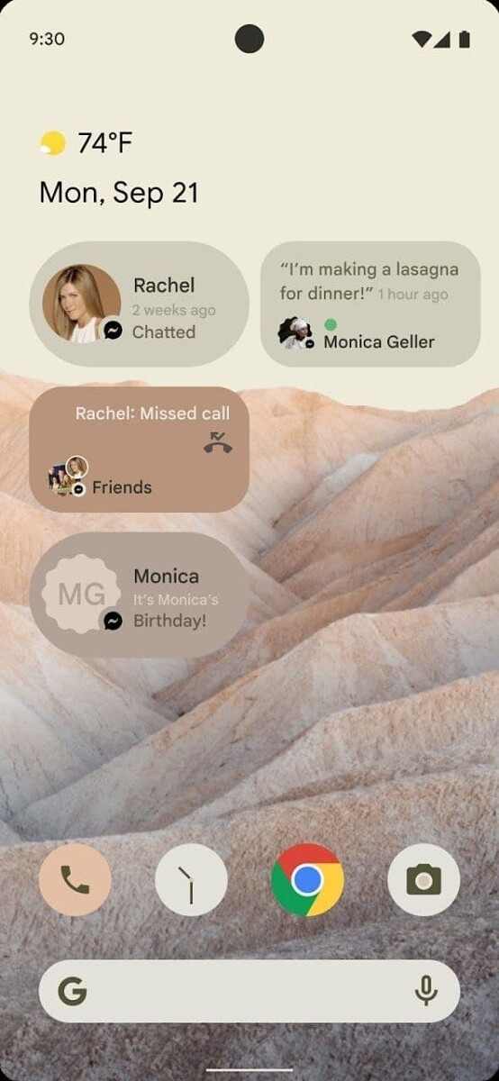 Multiple conversations widgets on the Android home screen