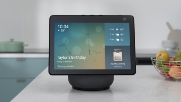 Third-generation Amazon Echo Show smart display on a kitchen counter