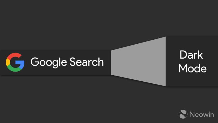 Google logo with Google Search Dark Mode written