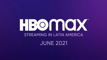 "HBO Max logo with the text ""Streaming in Latin America"" and a June 2021 date"