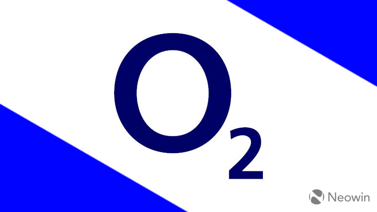 The O2 logo on a white and blue background