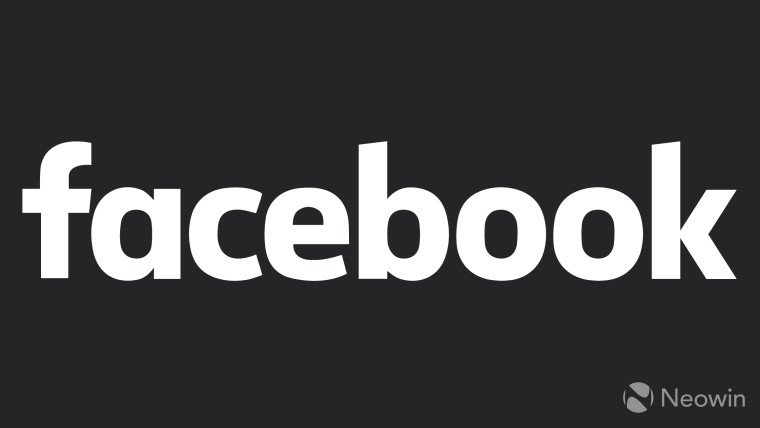 facebook logo with dark background