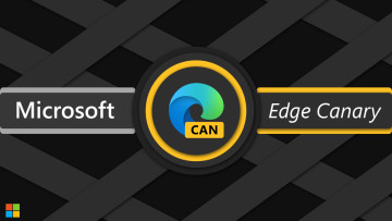 "Edge Canary logo in a circle with ""Microsoft Edge Canary"" written"