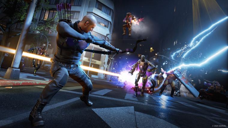 Marvels Avengers screenshot of Hawkeye