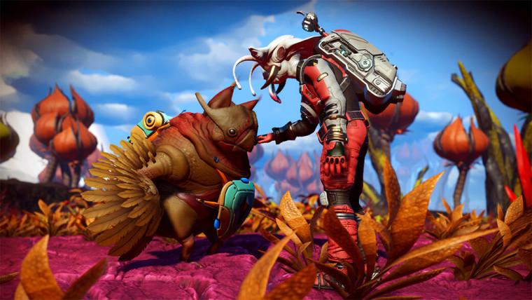 No Mans Sky screenshot of the alien companions