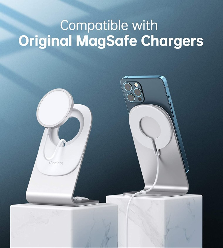 Choetech phone charger stand with magsafe support