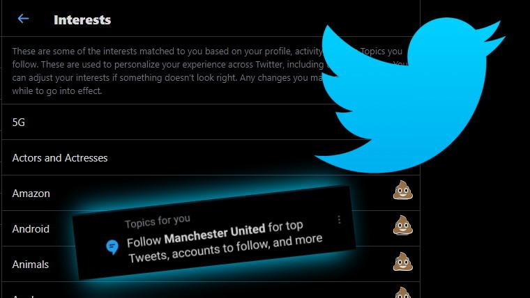 Twitter interests list