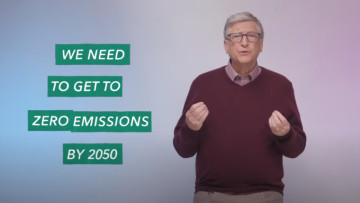 Bill Gates talking about getting to zero emissions