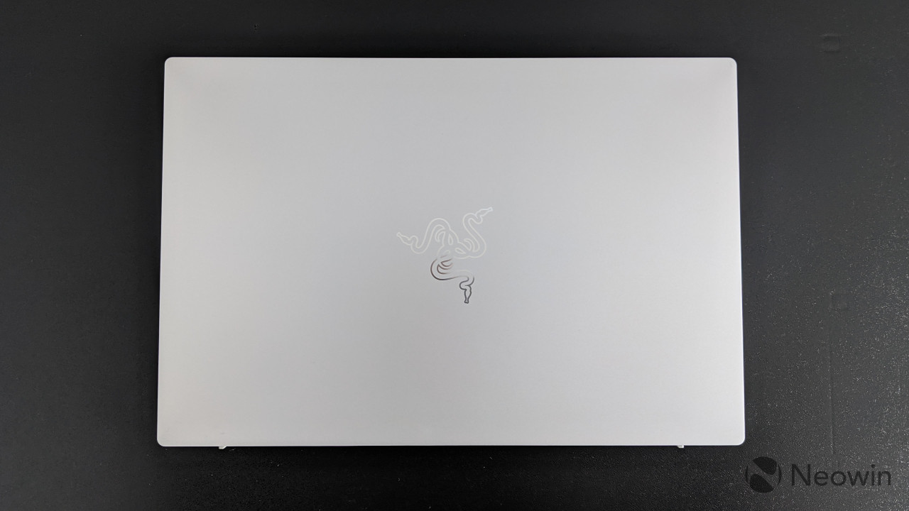 Top-down view of Razer Book 13, closed