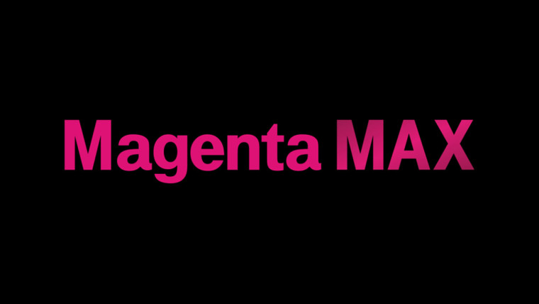Magenta Max text on black background