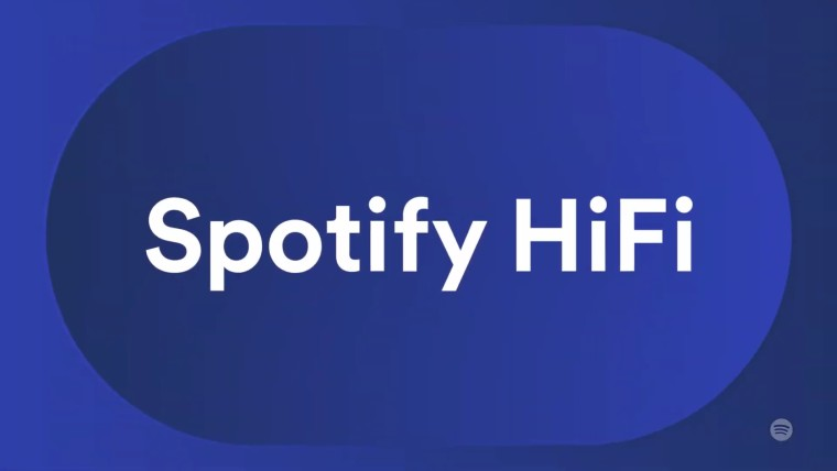 Spotify HiFi text on a purple background