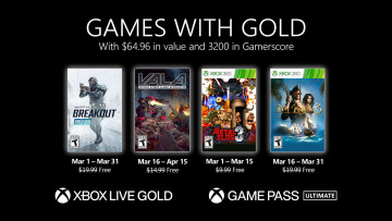 Games with Gold March 2021 announcement