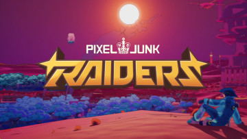 pixeljunk raiders game logo