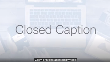 Zoom's automatic closed captioning in action