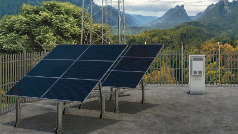 Solar panels being used to power Deutsche Telekom