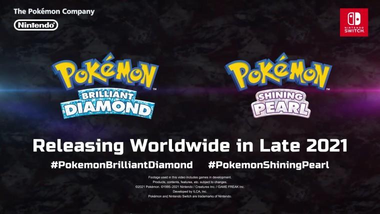 Pokémon Brilliant Diamond and Shining Pearl logos