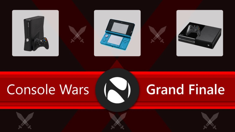 Console wars grand finale written with Xbox One, Xbox 360, and Nintendo 3DS images