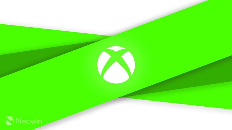 Xbox logo (monochrome) on green and light grey background